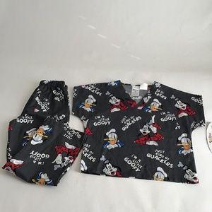 Disney Tooniforms by Cherokee mini scrubs Size M